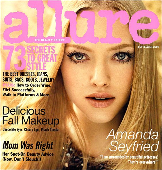 Amanda's September 2009 Allure cover, lashes and all...