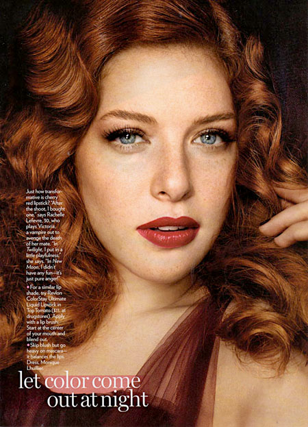 Rachelle Lefevre ready for the red carpet