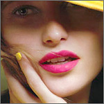 Shocking Pink lips!