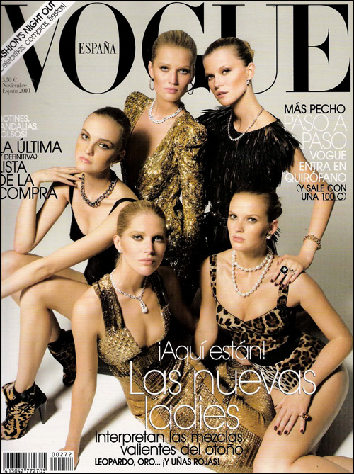 Vogue España cover, November 2010