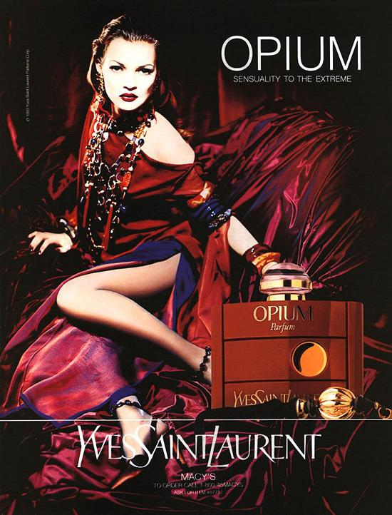Kate Moss - YSL Opium print ad